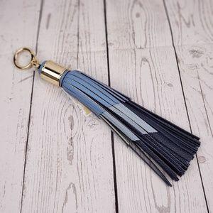 Michael Kors Blue Leather Tassel Charm